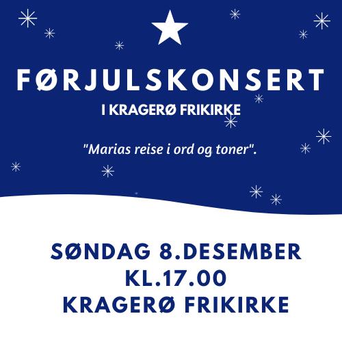 Førjulskonsert 8.desember – Marias reise i ord og toner.