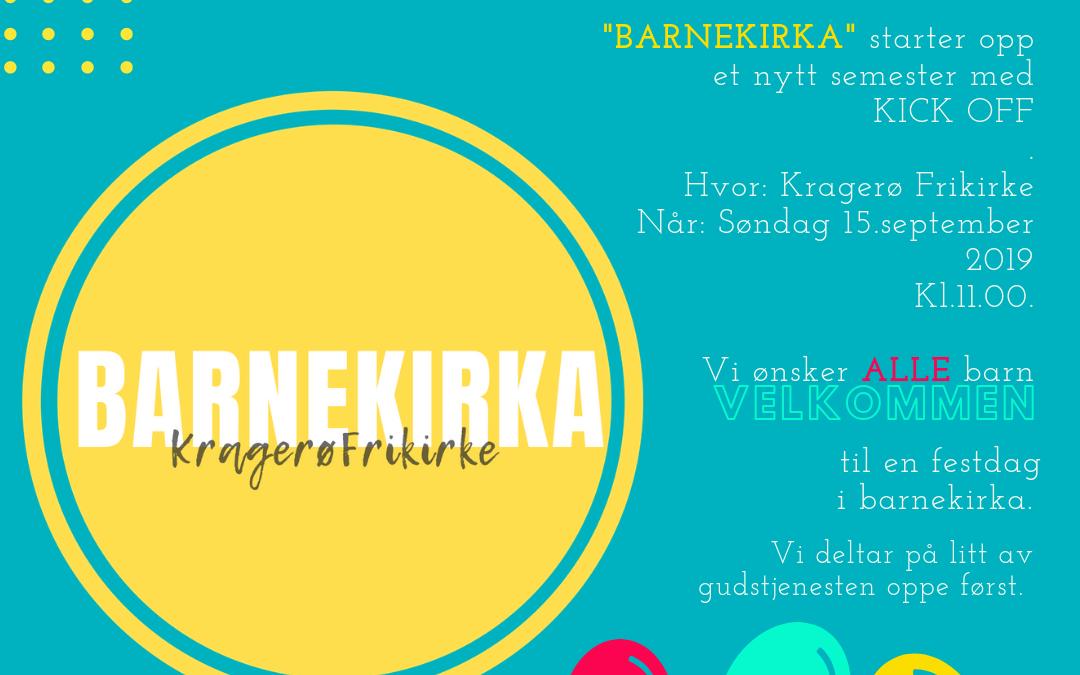 Barnekirka KICKOFF
