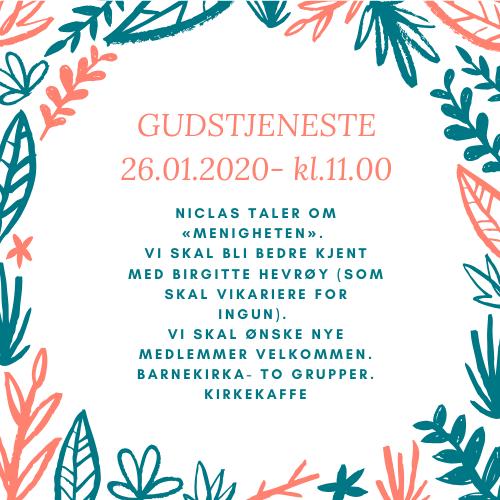Gudstjeneste 26.januar 2020
